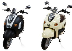 Electric Scooters Use Same frame and Panels as Gas Scooters